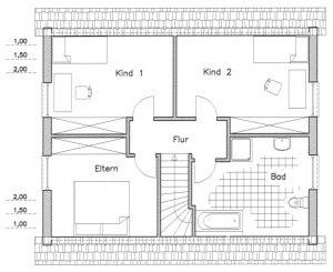 Grundriss Einfamilienhaus 10-124
