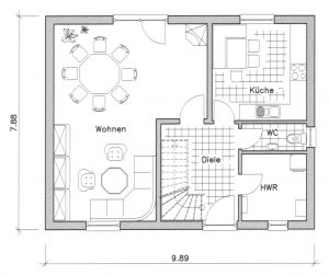 Grundriss Einfamilienhaus 10-124 EG