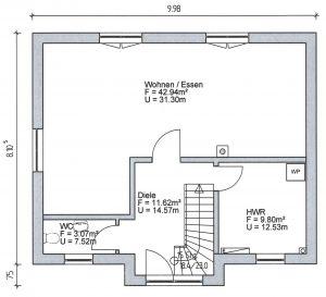 Grundriss Einfamilienhaus 11-124 EG