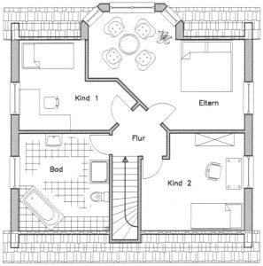 Grundriss Einfamilienhaus 14-130