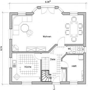 Grundriss Einfamilienhaus 14-130 EG