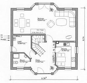 Grundriss Einfamilienhaus 15-131 EG