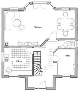 Grundriss Einfamilienhaus 16-135 EG