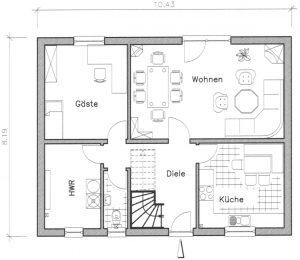 Grundriss Einfamilienhaus 17-134 EG