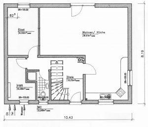 Grundriss Einfamilienhaus 18-134 EG