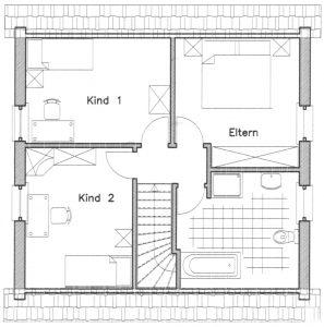 Grundriss Einfamilienhaus 2-100