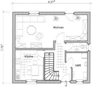 Grundriss Einfamilienhaus 2-100 EG