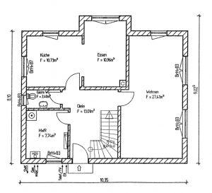 Grundriss Einfamilienhaus 20-139 EG