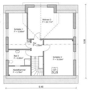 Grundriss Einfamilienhaus 21-142