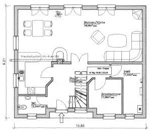 Grundriss Einfamilienhaus 22-146 EG