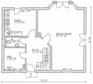 Grundriss Einfamilienhaus 23-147 EG
