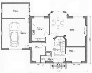 Grundriss Einfamilienhaus 24-147 EG