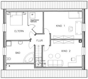 Grundriss Einfamilienhaus 25-163