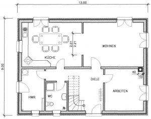 Grundriss Einfamilienhaus 25-163 EG