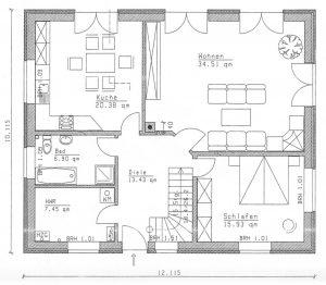 Grundriss Einfamilienhaus 26-192 EG