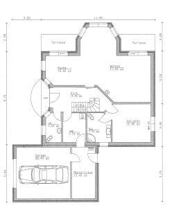 Grundriss Einfamilienhaus 27-195 EG