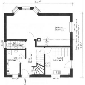 Grundriss Einfamilienhaus 3-101 EG