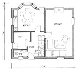 Grundriss Einfamilienhaus 4-110