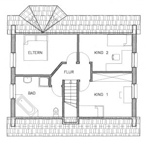 Grundriss Einfamilienhaus 4-110 EG