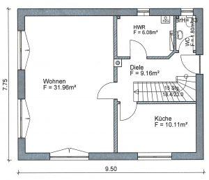 Grundriss Einfamilienhaus 5-112 EG