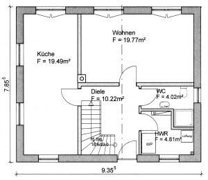 Grundriss Einfamilienhaus 6-112 EG