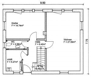 Grundriss Einfamilienhaus 7-113 EG