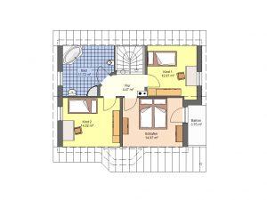 Grundriss Einfamilienhaus 8 Prospekt DG
