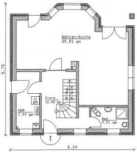Grundriss Einfamilienhaus 9-123 EG