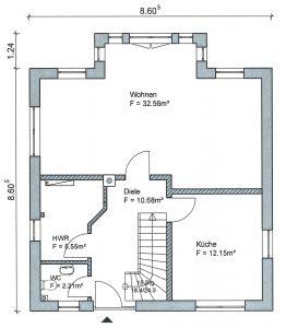 Grundriss Stadtvilla 1-118 EG