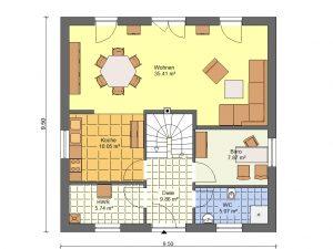 Grundriss Stadtvilla 3 Prospekt EG