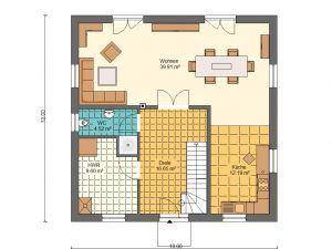 Grundriss Stadtvilla 5 Prospekt EG