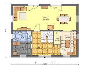 Grundriss Stadtvilla 6 Prospekt EG