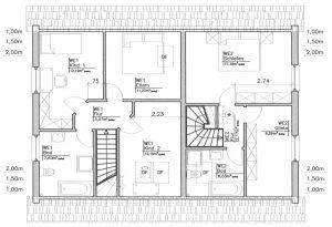 Grundriss Zweifamilienhaus 1