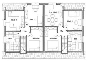 Grundriss Zweifamilienhaus 2