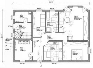 Grundriss Zweifamilienhaus 3 EG